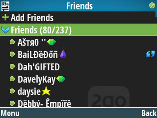 2go v7.0 friends list