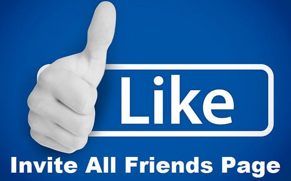 Facebook invite all friends page