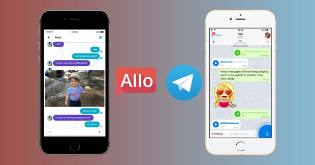 telegram v0s google allo